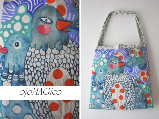 Hand painted bag by Ojo Magico  Hand painted handmade by Ojo Magico