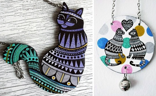 Hand painted cats by Ojo Magico  Hand painted handmade by Ojo Magico