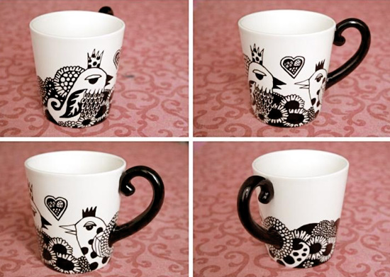 Hand painted cofee cups by Ojo Magico  Hand painted handmade by Ojo Magico