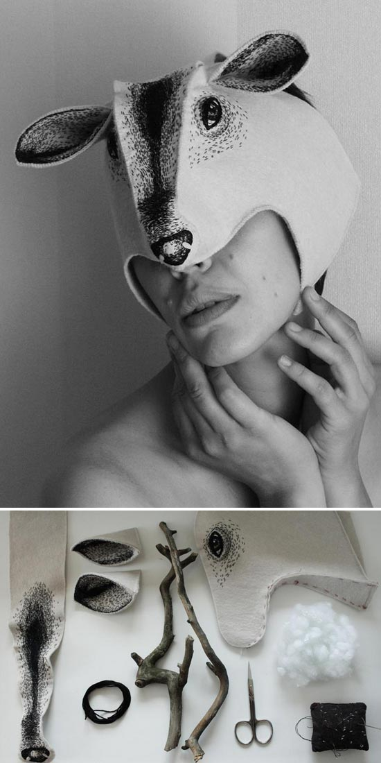 Nadya Sheremet mask  Nadya Sheremet, embroidered imagination