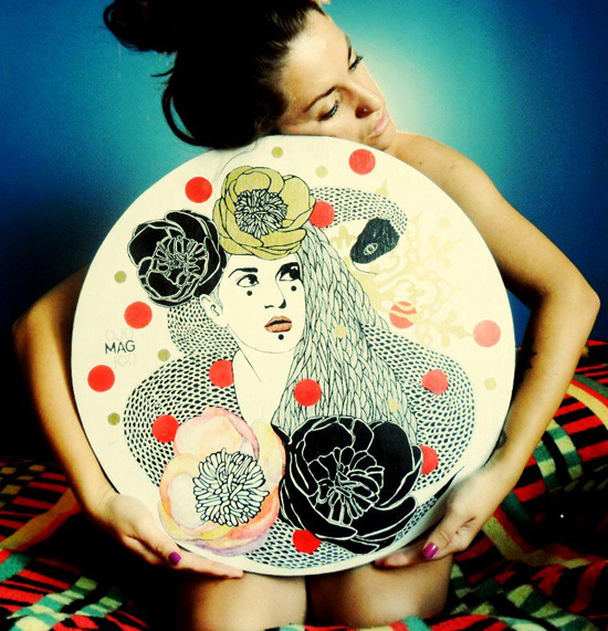 Paint on wood by Ojo Magico  Hand painted handmade by Ojo Magico