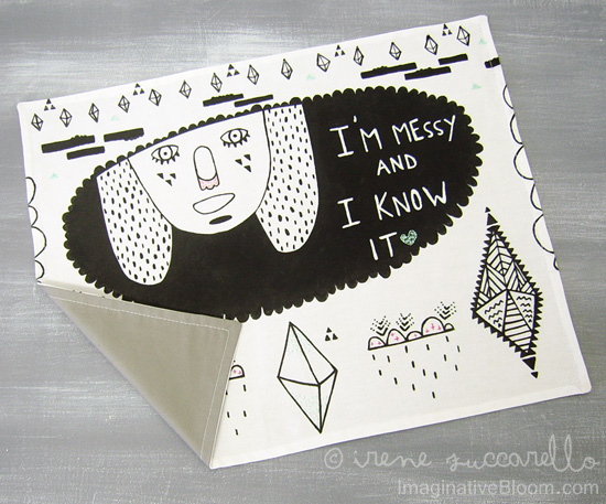 Handmade tea towel Irene Zuccarello back 550  I'm Messy and I Know it – My Handmade Tea Towel