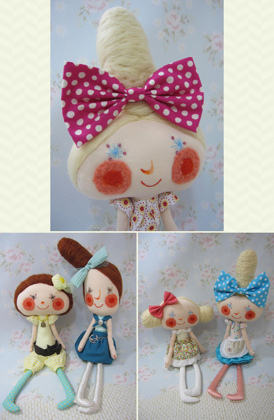 Handmade dolls by Bruno  Sewn and embroidered dolls by Bruno