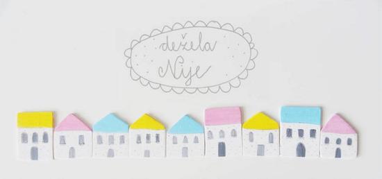 Handmade houses by De ela Nije  Delicate handmade by Dežela Nije