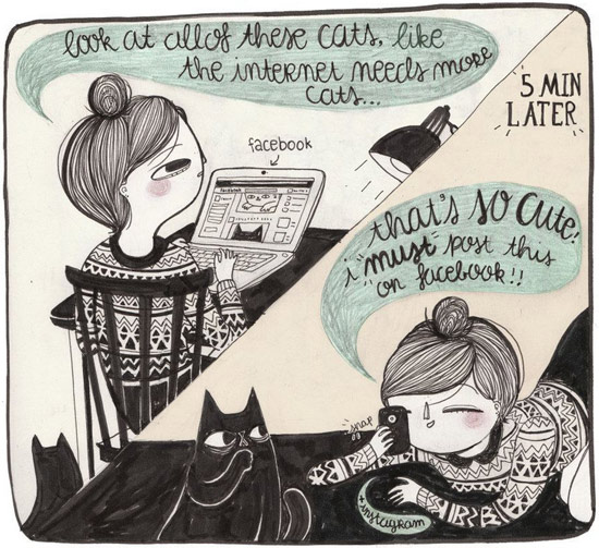 Look at all of these cats Illustration by La Nonette Illustration  La Nonette Illustration by Manon Bijkerk