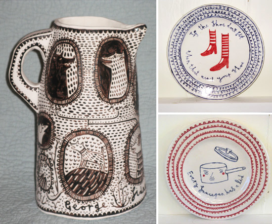 ceramics by vicky lindo  Vicky Lindo free-hand drawings on ceramics