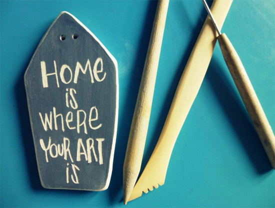 home is where your art is by Pauta Pot  Pauta Pot italian ceramics made with hands
