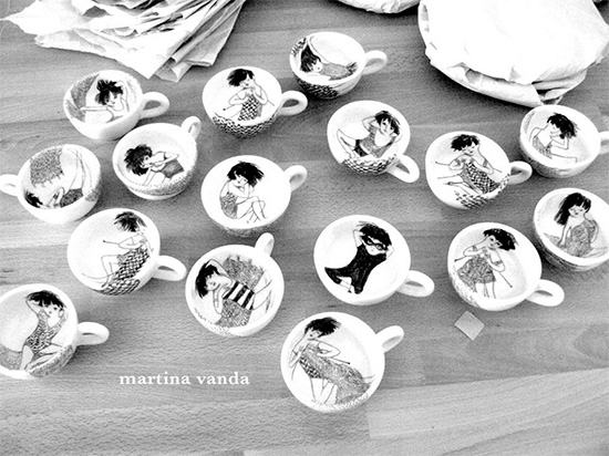 handmade ceramics 2 by martina vanda  Martina Vanda, the art of drawing and storytelling