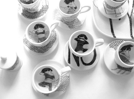 handmade ceramics 6 by martina vanda  Martina Vanda, the art of drawing and storytelling