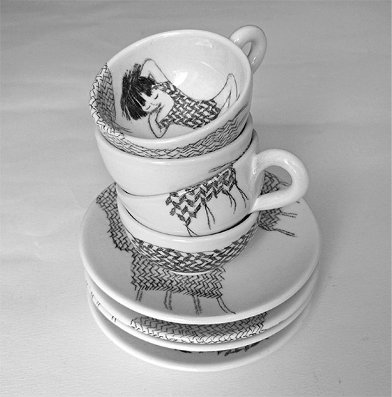 handmade ceramics by martina vanda  Martina Vanda, the art of drawing and storytelling