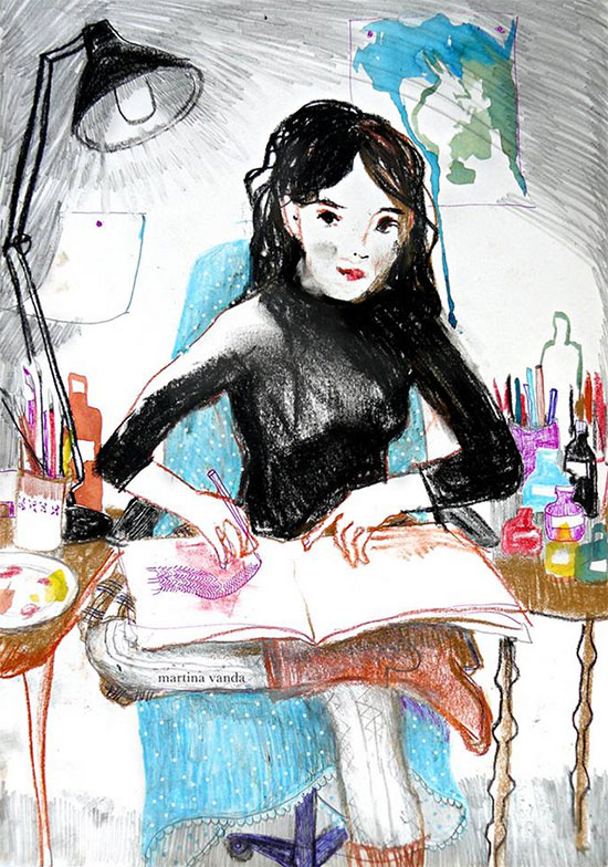illustration 6 by martina vanda  Martina Vanda, the art of drawing and storytelling