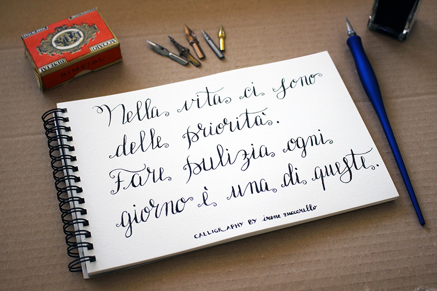 Calligraphy practicing by Irene Zuccarello