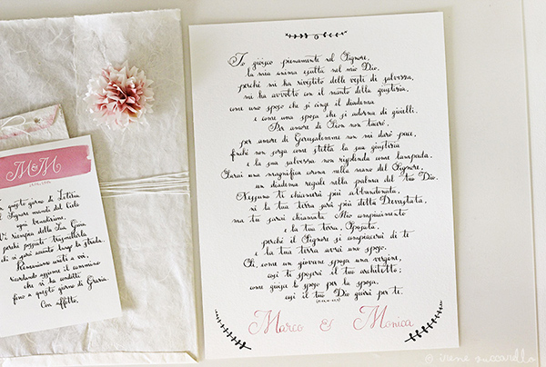 Marco e Monica 4 lullaby  Wedding whishes with calligraphy